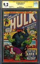 Incredible Hulk #161 CGC 9.2 Signed STAN LEE Death of MIMIC HULK vs BEAST Cover