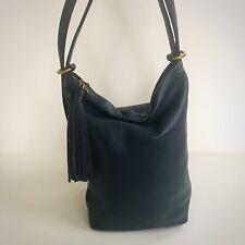 Hobo International Blaze Leather Bucket Shoulder Bag Backpack Moonshadow Blue