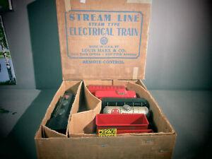 Vintage 1930's Marx #3993 Electric train set  Commodore Vanderbilt LOCOMOTIVE OB