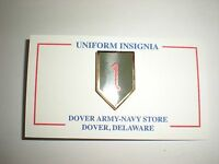 US ARMY 1ST INFANTRY DIVISION PIN - CURRENT PRODUCTION - GREAT FOR CAPS/JACKETS!