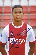 Justin Kluivert   Ajax Amsterdam Fußball Foto original signiert 395849