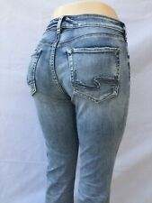 """NEW Silver Jeans Women's AVERY slim BOOT Mid Rise inseam 37"""" 90216A"""