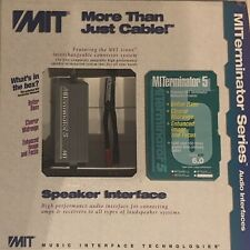 MIT TERMINATOR 5, PAIR OF 10 FT SPEAKER CABLES, NEW WITH WARRANTY & FREE BANANAS