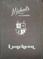 1981 Michael's of Stockbridge Massachusetts vintage luncheon restaurant menu