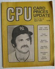 April 1984 issue of CPU with Thurman Munson on the cover (Card Prices Update)
