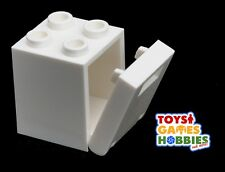 *NEW* LEGO White Mailbox Casing and Front 2x2x2 - City House Farm Yard Building