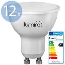 12x LUMIRA LED SMD Lampe GU10 7W 120° Spot Strahler Leuchte 560 Lumen Warmweiß