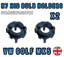 2x VW GOLF MK5 H7 HID BULB HOLDERS GOLF MK5 BULB HOLDER HID ADAPTORS 477