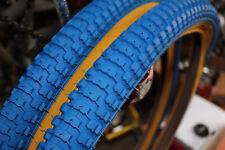 Snakebelly 26 x 2.125 BMX cruiser tire BLUE/GUM WALL (1 pair)