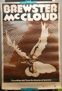 "ORIGINAL BREWSTER McCLOUD MOVIE POSTER 40""X60"" 1970 - Robert Altman"