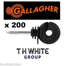 x200 Scew in electric Fence Insulators fencing GALLAGHER (MM)