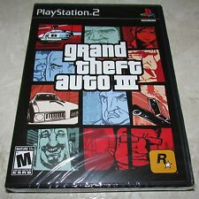Grand Theft Auto III 3 Playstation 2 PS2 Brand New Sealed!