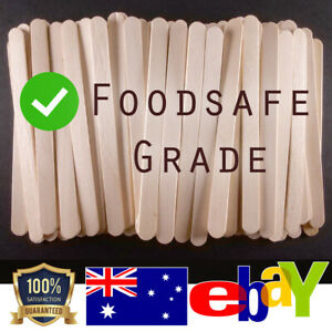 Food or Waxing Sticks Quality Paddle Pop Popsicle Wooden Wax Spatula Face Hair