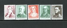 Netherlands 1941 A.C.W. STARING, JOHANN BOSBOOM, AAGIE DEKEN  SC B134-38 MNH