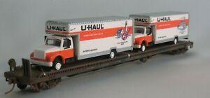 72' Piggy Flat -  U - Haul Trucks   HO Scale