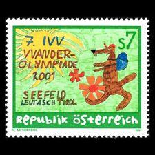 Austria 2001 - 7th IVV Hiking Olympics Cartoon Art Sports - Sc 1848 MNH