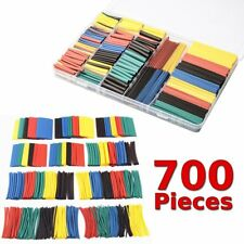 700pcs Assorted 2:1 Polyolefin Heat Shrink Tubing Tube Wrap Wire Cable Sleeving