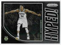 2019-20 Panini Prizm Get Hyped! #3 Giannis Antetokounmpo - Milwaukee Bucks