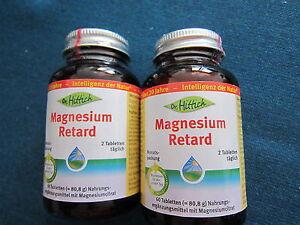 """(18,48 € / 100 g ) Dr. Hittich  """" Magnesium Retard """" 120 Tabletten  MHD 01- 2022"""