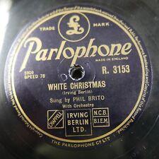 78 RPM Phil Brito BIANCO NATALE/Ave Maria