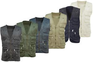 Mens Multi Pocket Utility Vest   Waistcoat   Fishing   Travelling   Hiking M,L,X