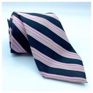 Alfani Men's Black & Pink Angled Striped Tie