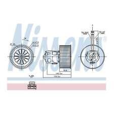 Fits BMW 5 Series F10 520d Genuine Nissens Interior Heater Blower Motor Fan