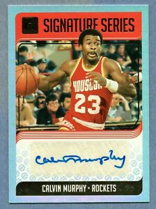 CALVIN MURPHY 2018-19 PANINI DONRUSS SIGNATURES SERIES HOUSTON ROCKETS AUTOGRAPH