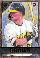 Seth Brown RC 2020 Topps Gallery Wood Parallel Rookie Card #79 Oakland Athletics