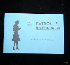 1957 GIRL SCOUT - PATROL RECORD BOOK