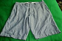 Banana Republic Mens SZ 35 Flat Front Blue COTTON Shorts