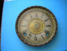 Vintage E Ingraham Mantel Clock Face and bezel with glass& movement for parts