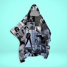 Elvis Presley - Black & White - Montage - SNUGAROO Hooded Fleece Poncho