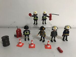 Playmobil Firefighter Figures And Accesories Bundle