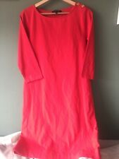 JAEGER - Red - Bodycon Dress With Gold Buttons - M