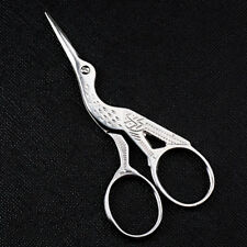Vintage Stork Embroidery Sewing Craft Shears Cross Stitch Scissors Cutter