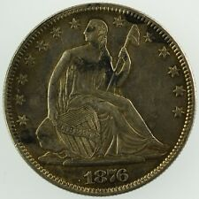 1876 Seated Liberty Half Dollar United States Silver Coin
