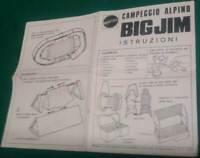 BIG JIM CAMPEGGIO ALPINO ISTRUZIONI ORIGINALI Mattel - VINTAGE