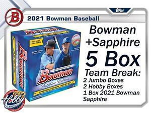 MILWAUKEE BREWERS 2021 Bowman + Sapphire (5 Box) TEAM Break #5