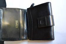 porte monnaie et porte carte  LE TANNEUR cuir noir
