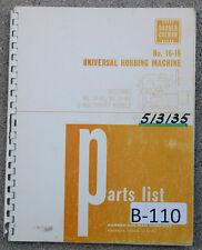 Barber Colman 16 16 16 36 Amp 16 56 Repair Parts Manual Year 1963