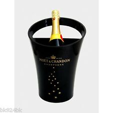 MOET & CHANDON Champagne Bottle Ice Bucket Cooler Black Acrylic France