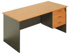 Office Desk 1500L with desk drawers office furniture computer student desks