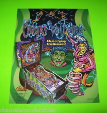 CIRQUS VOLTAIRE By BALLY ORIGINAL WITHDRAWN PROTOTYPE PINBALL MACHINE FLYER