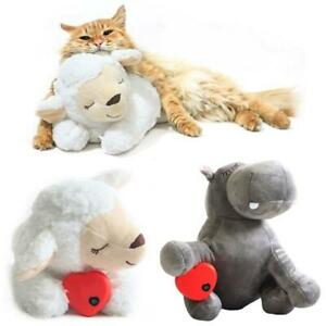Cute Animal Shape Heartbeat Puppy Behavioral Training Toy Plush Pet Comfortable