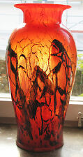 Selten! Grosse WMF Ikora Vase rot 44,5 cm hoch Bauhaus Art Déco Werkbund red