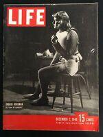 VINTAGE ~ LIFE Magazine   December 2, 1946    Cover: Ingrid Bergman    M1786