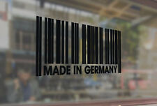 25cm Made in Germany barcode Vinyl Stickers Decal Car Auto Laptop Glass