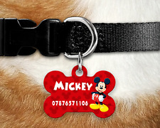 Personalised Pet Tag - ID Tag - Dog Tag - Bone Tag -Mickey Mouse Dog Tag