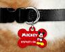 Personalised Pet Tag - ID Tag - Dog Tag - Bone Tag - Mickey Mouse